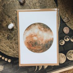 Watercolor Venus 🌌 #Watercolor #Artprint #planet #moon by #elisaursa