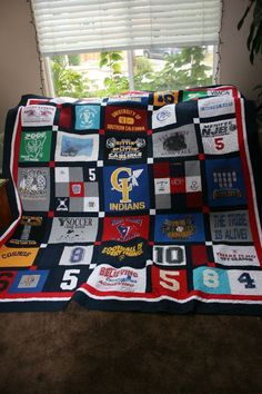t-shirt quilt with your kids old tees...great gift