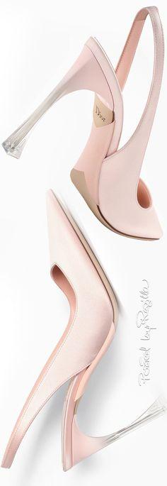 Dior ~ Pink Satin Slingback Pumps
