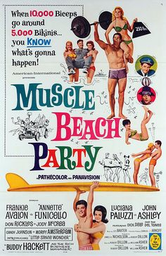 Muscle Beach Party (1964) starring Frankie Avalon & Annette Funicello