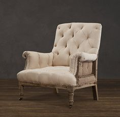 Deconstructed Tufted Roll Arm Chair | Chairs | Restoration Hardware