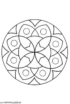 Free coloring pages of mandala per bambini Mandala Art, Mandala Drawing, Mandala Pattern, Mandala Coloring Pages, Colouring Pages, Coloring Books, Free Coloring, Stained Glass Patterns, Mosaic Patterns