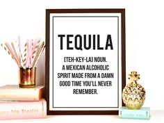 New to FuzzyandBirch on Etsy: TEQUILA Funny Definition Print (9.00 GBP)