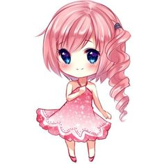 Chibi Serah by xNamii ❤ liked on Polyvore featuring anime