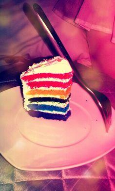 Rainbow;cake