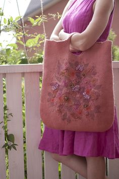 felt bag by aureliaLT on etsy