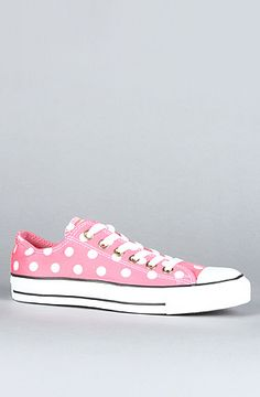 The Bleach Polka Dot Chuck Taylor All Star Sneaker in Pink by Converse at karmaloop.com