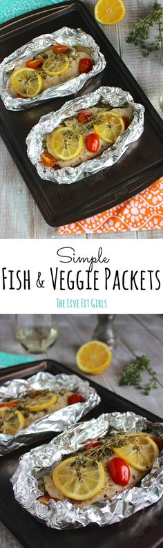 The most simple dinner ever! Simple Fish Packets loaded with veggies and FLAVOR!