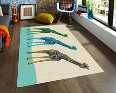 Giraffes rug, Area rugs, accent rugs, Decorative Rugs, living room rugs, 5x8 rugs, modern rugs, carpet, contemporary rugs, affordable rugs