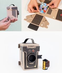 Shoot pinhole shots on 35 and 120mm film with this vintage style film cam made of crafty cardboard. ($64)