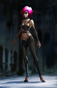 Suicide Room Character Design by Michal Lisowski, via Behance