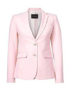 Banana Republic Womens Petite Long And Lean-Fit Lightweight Wool Blazer New Powder Pink Modern Outfits, Classic Outfits, Trendy Outfits, Classic Clothes, Office Fashion Women, Womens Fashion For Work, Karen Millen, Fall Fashion Trends, Autumn Fashion