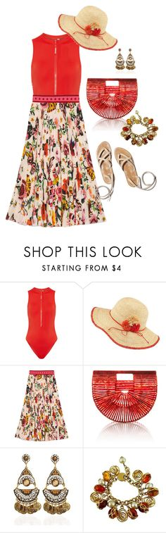 """""""Untitled #174"""" by coolhewie ❤ liked on Polyvore featuring Calvin Klein, Frontgate, Gucci, Cult Gaia and Yves Saint Laurent"""
