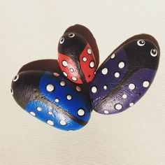 #ladybird #potmarker #gardenmarker #garden #paintedstone #paintedrock