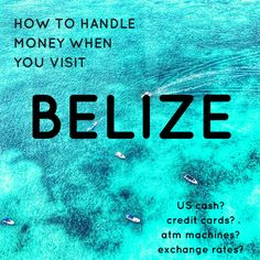 I get lots of questions from first time visitors about money in Belize -- does everyone accept credit cards, do shops accept US dollars, do ATM machines ta