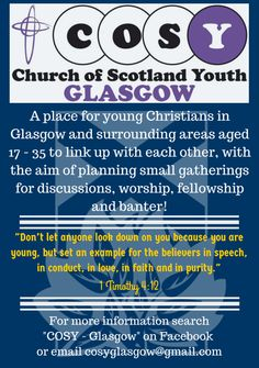 COSY - Glasgow Church Of Scotland, Glasgow, Cosy, Worship, Christianity, Let It Be, How To Plan