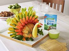 Gobble (Gobble) Up Your Veggies: Edible Veggie Turkey Craft