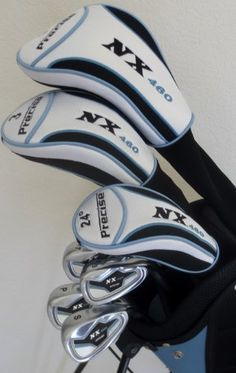 """Womens Petite Golf Set For Ladies 5'0"""" to 5'5"""" Tall Complete Driver, Fairway Wood, Irons, Sand Wedge, Putter, Stand Bag"""