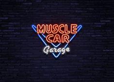 neon verlichting muscle car garage jolina retro meubels auto garage neonreclames