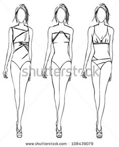 stock-vector-sketch-of-fashion-girls-swimwear-108439079.jpg (380×470)