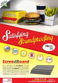 ScreedBoard Satisfying Soundproofing Campaign #Creative #Marketing #Design