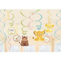 Lion King Baby Shower Dangling Cutouts