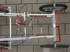 Pedals posision of self made four wheel bicycle
