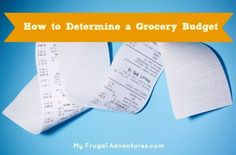 Easy tips to determine a grocery budget and stick to it!  You could save a lot of money this year!