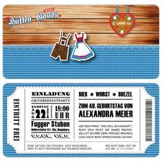 Einladungskarten zum Geburtstag im Oktoberfest-Desing mit Abriss - Kartenparadies-Koeln.de - individuelle Einladungskarten für Hochzeiten, Geburtstage und viele weitere Anlässe.