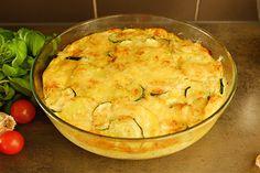 Grönsaksfrittata på potatis och zucchini.