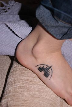 Disney Castle Tattoo. Not sure I would get it on my foot though