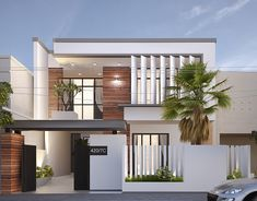 Concept Son's House on Behance House Outer Design, House Fence Design, House Main Gates Design, Two Story House Design, Modern Exterior House Designs, 2 Storey House Design, Modern House Facades, Duplex House Design, Modern Architecture House