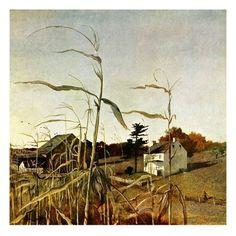 "Andrew Wyeth, ""Autumn Cornfield"", 1950"
