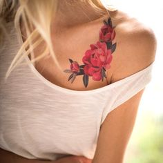 Sasha Unisex Temporary Tattoo - Peony Crescent - on Tattoo You