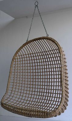 Two-Seat Rattan Hanging Egg Chair