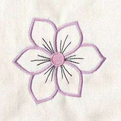 Free Embroidery Design: Flower Power Outline