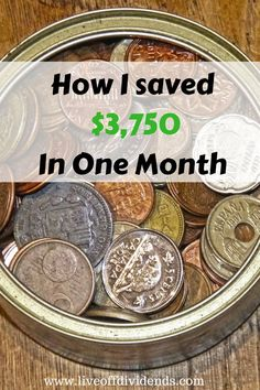 Click to see how I managed to save $3,750 in one month!