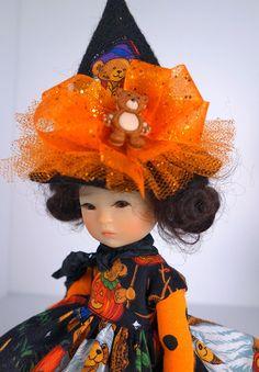 """Halloween! For Ten Ping, Strawberina, 8"""" bjd. by  *Little Charmers Doll Designs #DressforTenPingStrawberina"""