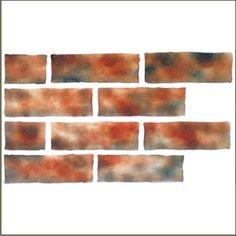 Faux Brick Stencil-brick, stencil, faux brick, exposed brick,