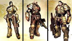 Hawkprey: Unreal Tournament 3 Iron Guard James Hawkins, Unreal Tournament 3, Tank Girl, Graphic Design Illustration, Art Google, Concept Art, Character Design, Iron, Rockets