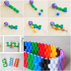 How To Make Colorful Bracelet step by step DIY tutorial instructions, How to, how to do, diy instructions, crafts, do it yourself, diy website, art project ideas
