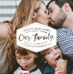 Mixbook Everyday Typographic Family Photo Books