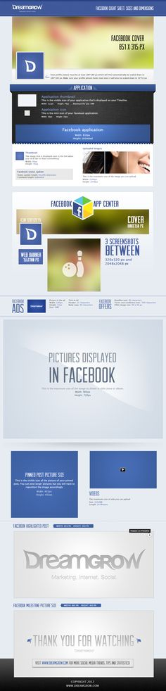 Facebook: medidas y dimensiones - #infografia / #facebook cheat sheet: sizes and dimensions - #infographic