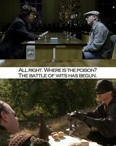 Every time I watch the pill scene in Sherlock it makes me think of Princess Bride. Knew I couldn't be the only one.