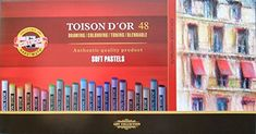 Koh-I-Noor Toison Dor 8516 Artists Soft Pastels in Cardboard Pack of for sale online Koh I Noor, Art Sets For Kids, Cardboard Packaging, Drawing Letters, French Artists, Amazon Art, Creative Kids, Sewing Stores, Soft Pastels