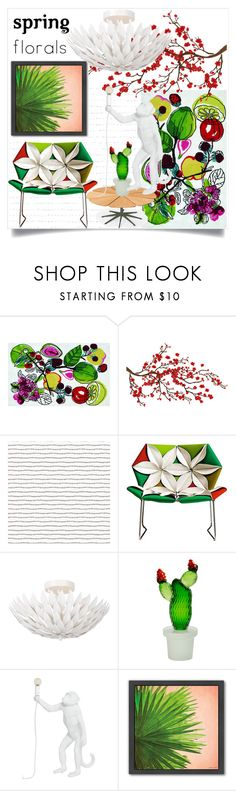"""""""Tropical Spring"""" by digitalmanager ❤ liked on Polyvore featuring interior, interiors, interior design, home, home decor, interior decorating, Designers Guild, Brewster Home Fashions, MOROSO and Seletti"""