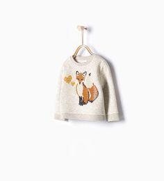 Sweatshirt raposa lantejoulas