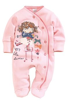 Buy Girls Pink And Blue Sleepsuits Three Pack (0mths-2yrs) from the Next UK online shop
