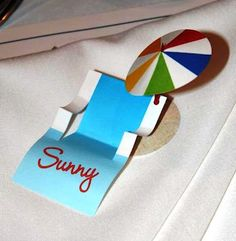 Beach party placecards