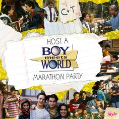 Boy Meets World Marathon Party   Disney Style LOL I feel better knowing I'm not the only crazy person.